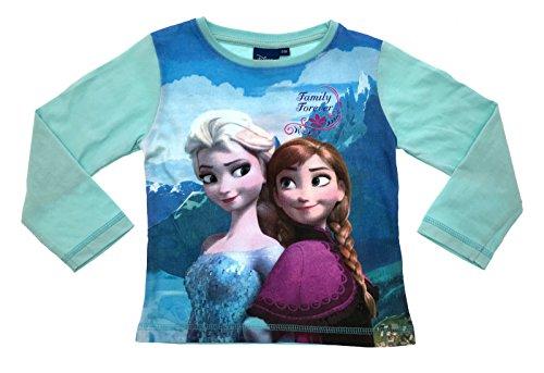 Kids Girls Boys Official Disney Frozen Queen Elsa Anna Childrens Long Sleeve T-Shirt 100% Cotton Size 3-10 Years