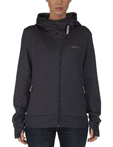 Bench - Felpa da donna asymetry, Donna, Sweatjacke Asymetry, Total Eclipse Marl, M