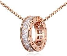 Collar con colgante en oro rosa de 18 quilates con cristales de Swarovski