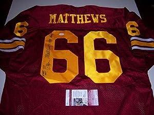 Bruce Matthews Signed Jersey - Usc Trojans Jsa coa - Autographed NFL Jerseys by Sports+Memorabilia