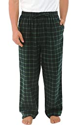 Del Rossa Men\'s Flannel Pajama Pants, Long Cotton Pj Bottoms, 3XL Blue and Green Plaid (A0705P233X)
