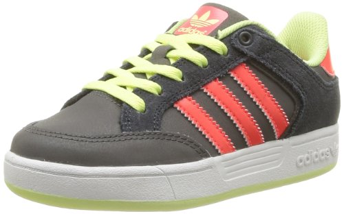 Adidas Originals Unisex-Child Varial J-8 Trainers G98148 Dark Cinder/Pop/Glow 4.5 UK, 37 EU