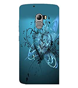 PrintDhaba Heart D-2166 Back Case Cover for LENOVO K4 NOTE A7010a48 (Multi-Coloured)