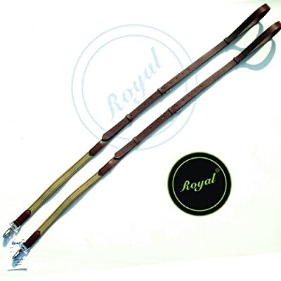 Royal Elastic Side Reins./ Vegetable Tanned Leather./ Stainless Steel Buckles.