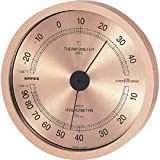 EMPEX (エンペックス) 温・湿度計 スーパーEX高品質温・湿度計 壁掛用 EX-2728 シャンパンゴールド