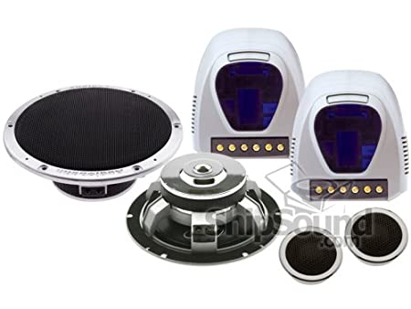"""Audiobahn parleurs ABC5002V Low Profile 2-Way Component System 5.25 """"Car Speakers"""