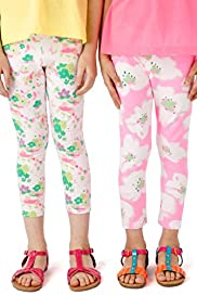 2 Pack Cotton Rich Floral Leggings