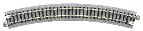 "Kato USA Model Train Products Unitrack, 348mm (13 3/4"") Radius 30-Degree Curve Track (4-Piece) - 1"
