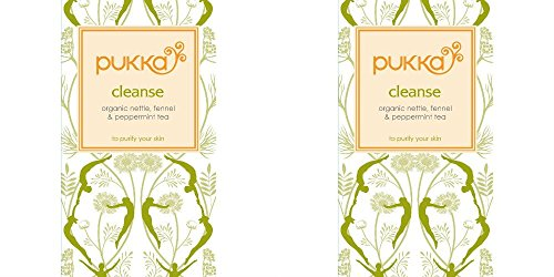 (2 Pack) - Pukka Herbs - Cleanse Tea | 20 sachet | 2 PACK BUNDLE (Master Cleanse Tea compare prices)