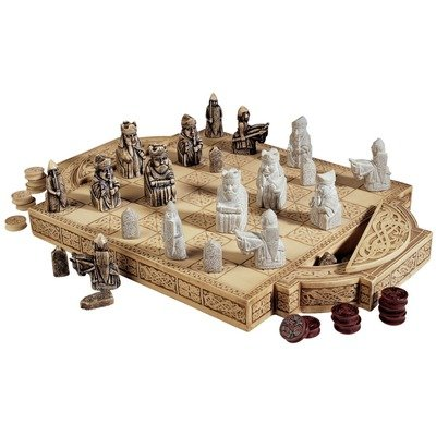 Isle of lewis chess set and board - Lewis chessmen set ...