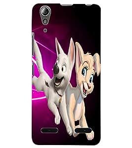 ColourCraft Cute Cartoons Design Back Case Cover for LENOVO A6000 PLUS