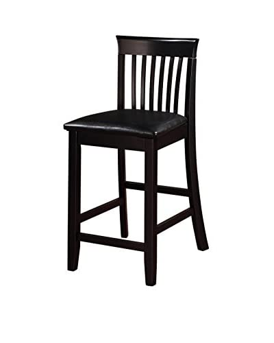 Linon Home Décor Torino Collection Craftsman Counter Stool, Black