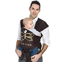 Moby Wrap Baby Carrier Born Free Design Chocolate