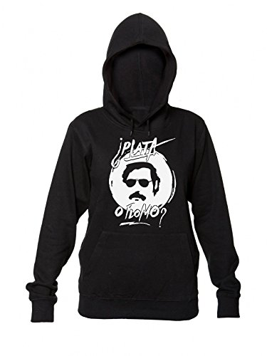 pablo-escobar-plata-o-plomo-womens-hooded-sweatshirt-extra-large