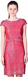 Unimod Women's Body Con Dress (Maroon, XS)