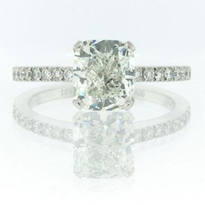 2.32ct Cushion Cut Diamond Engagement Anniversary Ring