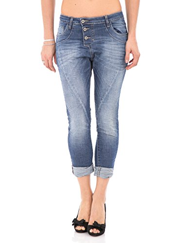 PLEASE - P78a jeans da donna stropicciato baggy boyfriend m denim