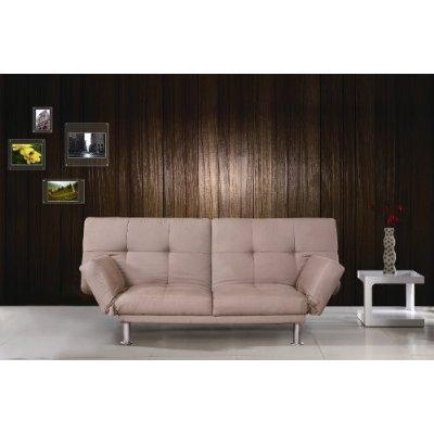 Taupe Micro Twill Modern Sofa Bed