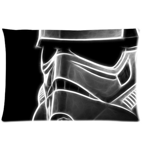 New Pillow Cover Star Wars Stormtrooper Mask Pillow Cover Design For Fans Zippered Pillowcase Personalized Throw Pillowcases Decorative Sofa Or Bed Pillow Case Cover 20*30 inches(2 Sides)