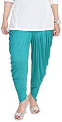 Soundarya Women's Cotton Lycra Harem Pants (Green)