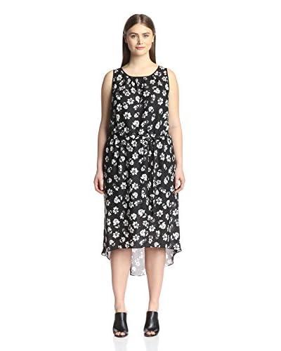 Kaya di Koko Plus Women's Emery High Low Dress  [Black/White]