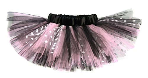 Light Pink & Black Polka Dot Designer Baby Girls Tutu