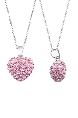 Authentic Pink Sapphire Color Heart Shape Pendant Crystals. Now At Our Lowest Price Ever but Only for a Limited Time!(chain Not Included)