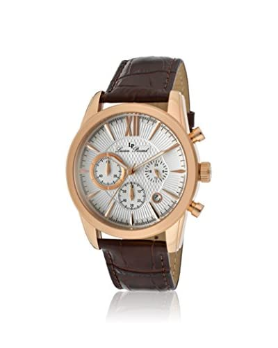 Lucien Piccard Men's LP-12356-RG-02S Mulhacen Rose Gold Ion-Plated Watch with Brown Leather Band