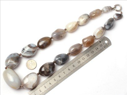 16--30mm graduated botswana agate beads strand necklace 18