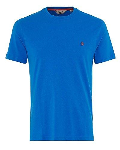 original-penguin-uomo-pin-point-logo-t-shirt-blu-medium