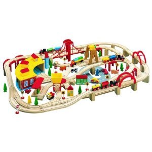 MAXIM WOODEN 145 PC TRAIN SET - FITS THOMAS TANK