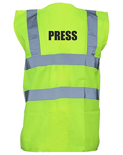 Press, Printed Children's Hi-Vis Vest Waistcoat - Yellow/Black 7-9 Years (Press Vest compare prices)