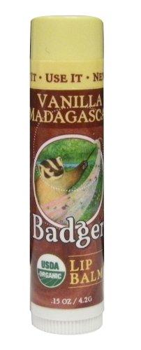 BADGER バジャー バジャー クラシックリップバームスティック バニラマダガスカル 4.2g