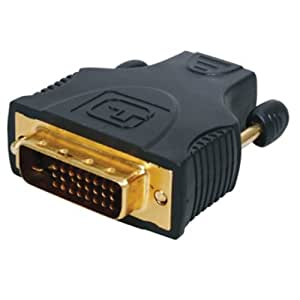 Adaptateur HDMI femelle - DVI-D mâle 24+1 pins contacts or 24k