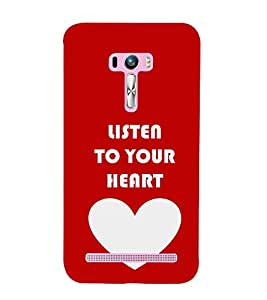 Love Quote 3D Hard Polycarbonate Designer Back Case Cover for Asus Zenfone Selfie ZD551KL
