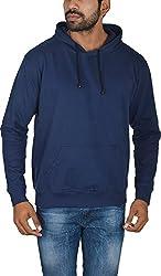 Le Beau Classics Men's Cotton Hoodies GR_012_ Navy Blue_L