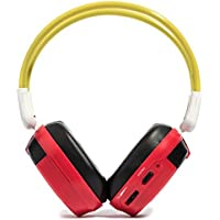 Bravo View IH-06A Kid-Friendly Automotive IR Wireless Headphones in Red/Yellow