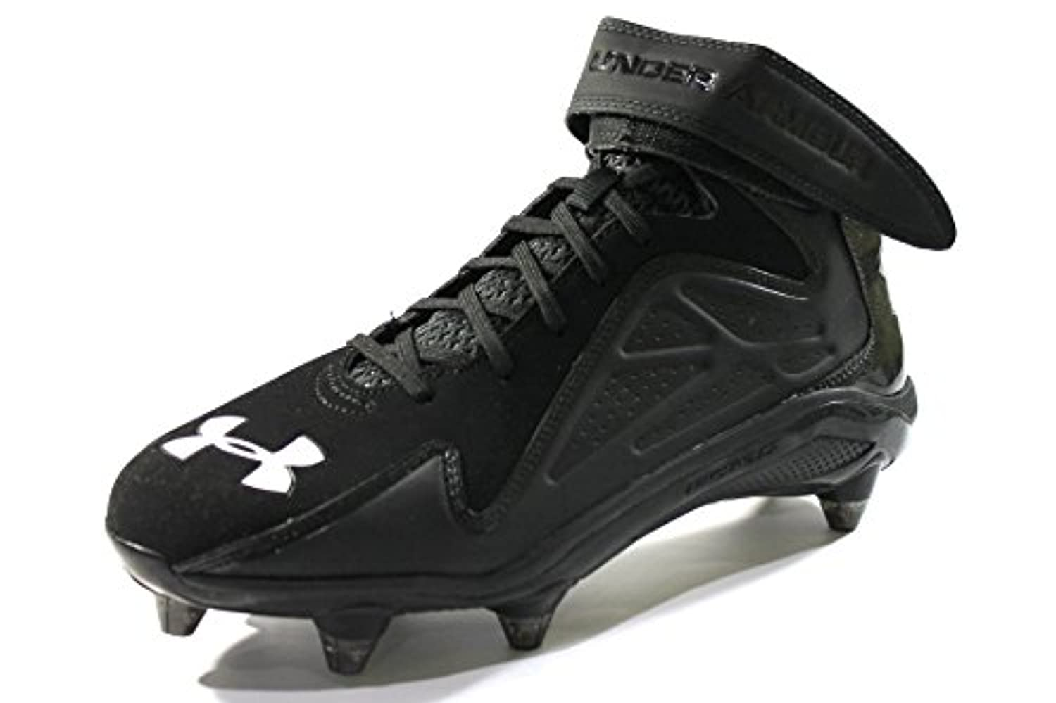 200108033 ... Under Armour Men s Micro G Renegade Mid D Black Football Cleats size  10.5 ...