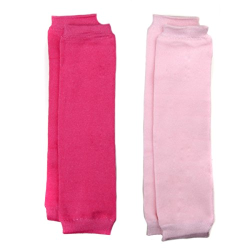 Baby Leg Warmers Solid Colors Set Of 2 - Light Pink And Hot Pink front-318174