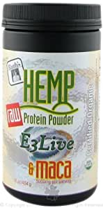 Ruth's Hemp Foods Raw Protein Powder E3 Live and Maca - 16 Oz, Pack of 2