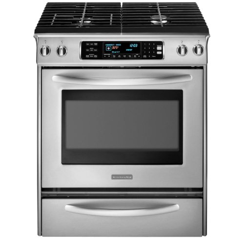 KitchenAid Architect Series II : KDSS907SSS 30 Slide-In Dual Fuel Range - Stainless Steel