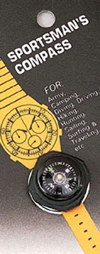 Camping Cub Boy Scout Hiking Watch Wrist Arm Hiking Compass Slides On Watchband (Scout Belt compare prices)