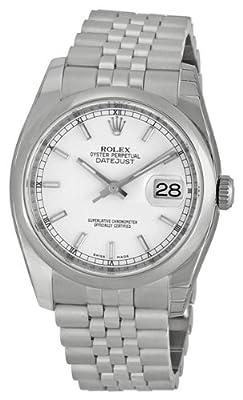 Rolex Datejust White Index Dial Jubilee Bracelet Mens Watch 116200WSJ