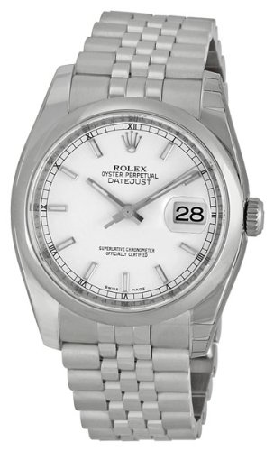Rolex Datejust White Index Dial Jubilee Bracelet Mens Watch 116200WSJ