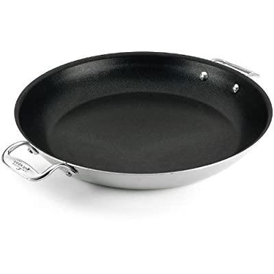 All-Clad 4222 Stainless Steel Tri-ply Nonstick Frittata Pan Cookware, 11-Inch, Silve