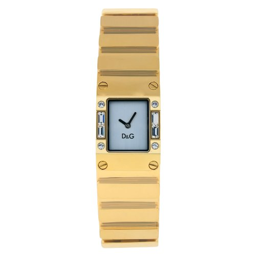 D&G Dolce & Gabbana Women's DW0346 Gold Tone Stainless Steel with White Dial Watch