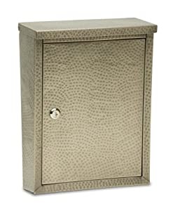Architectural Mailboxes 2582APH Laguna Wall Mount Locking Mailbox, Antique Pewter Hammered