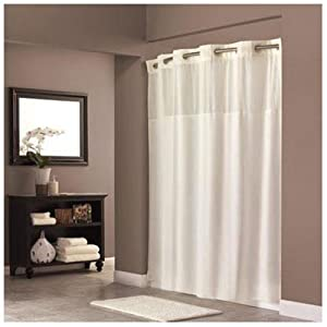 com hookless fabric shower curtain beige hotel shower curtain