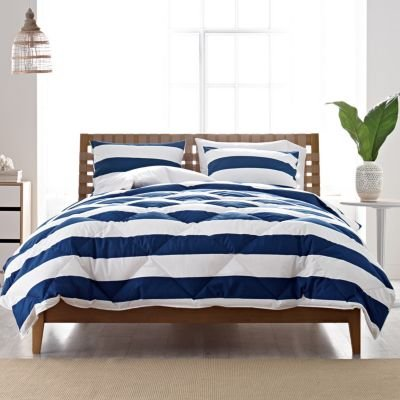 St. Tropez Mariner Stripe Tcs Down Comforter, Twin - The Company Store front-581247