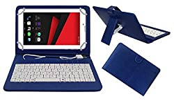 Acm Premium Usb Keyboard Case For Revolt Nx1 Tablet Cover Stand With Free Micro Usb Otg - Blue